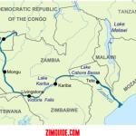 zambezi river map and countries