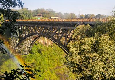 bridge on zambezi victoria falls linking zimbabwe and zambia