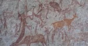 matobo hills stone age rock painting