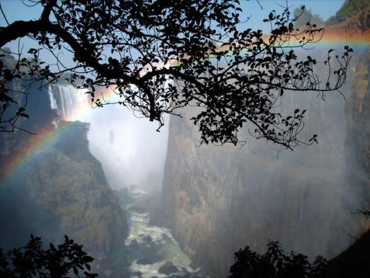picture of victoria falls gorge on zambezi